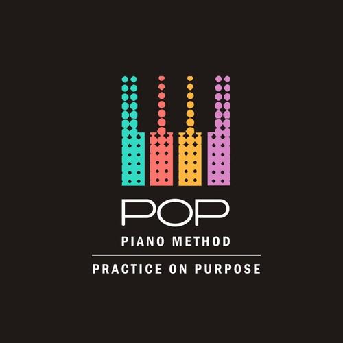 Creative Design for a POP piano method.