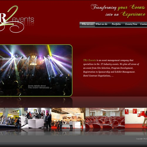 NEW EVENT MANAGEMENT COMPANY WEBSITE