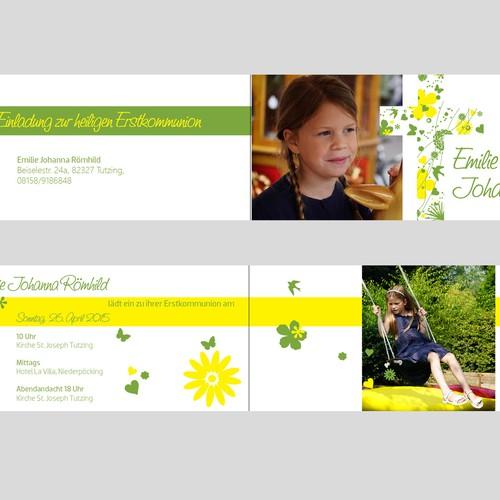 Einladungskarte Erstkommunion Emilie