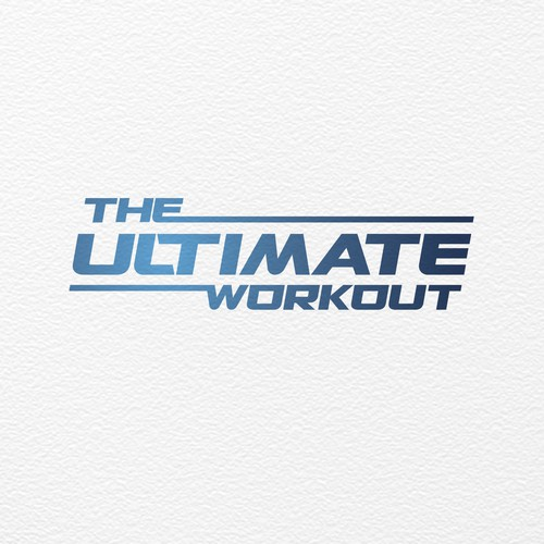 Bold logo concept for The Ultimate Workout