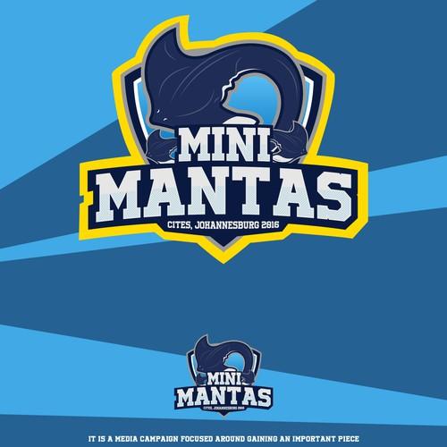 Mini Mantas Logo Design