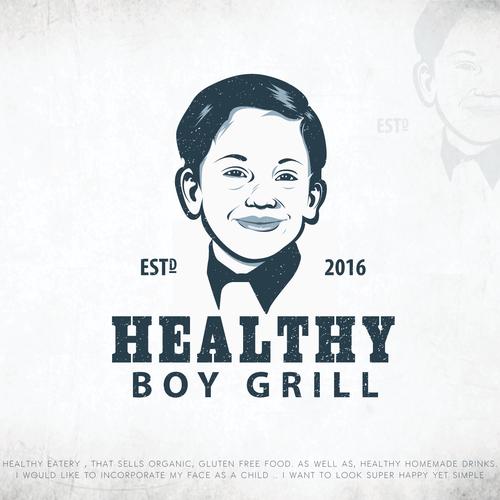 """Bold Logo For """"HEALTHY BOY GRILL"""""""