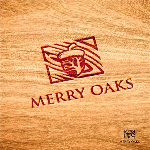 Merry Oaks: A Rustic Artisan Leather and Wood Product company looking for a new, unique logo design