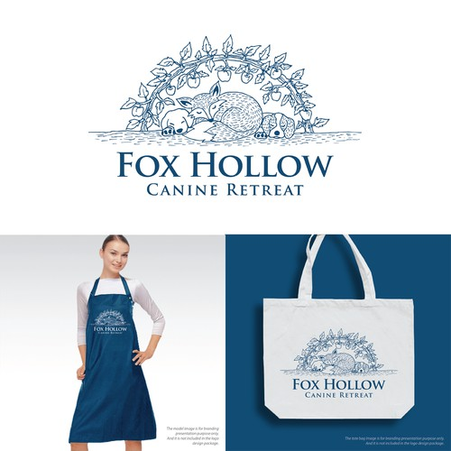 Fox Hollow Canine Retreat Logo Design