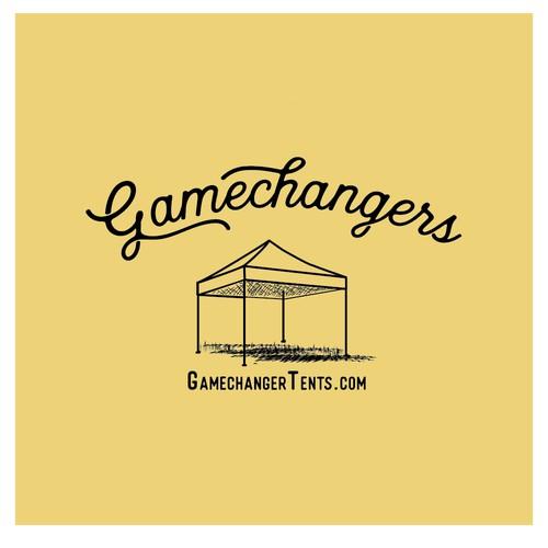 Logo concept for GameChanger Tents