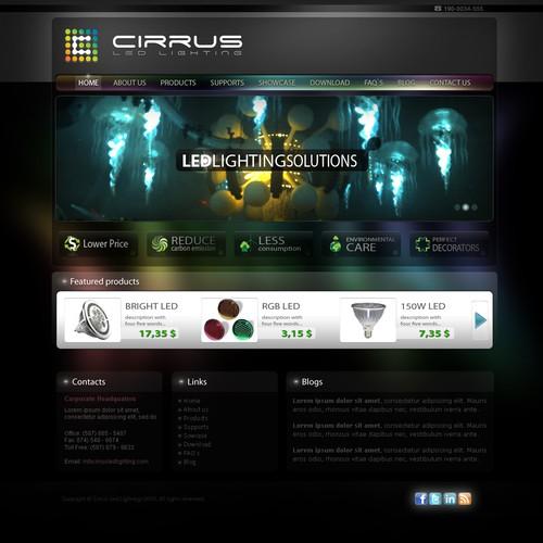 Startup LED Lighting Manufacturer wants an Impressive Site!