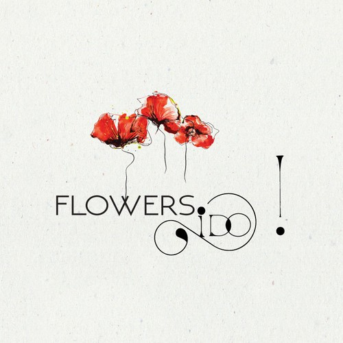 logo and business card design for an upmarket, artisan wedding and events florist
