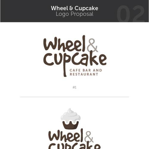 Wheel & Cupcake Logo
