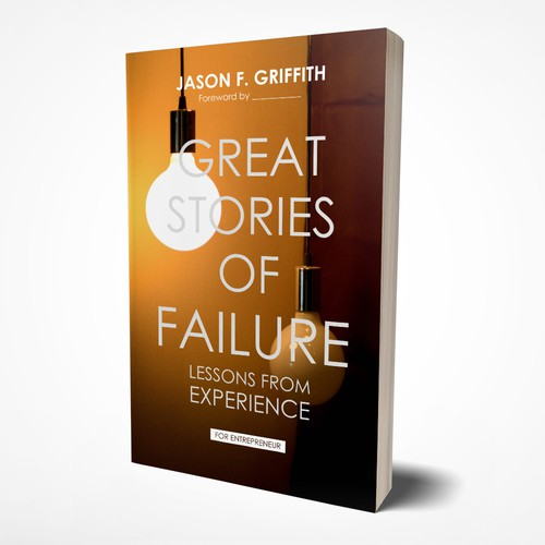 """Great Stories of Failure"" book cover design"