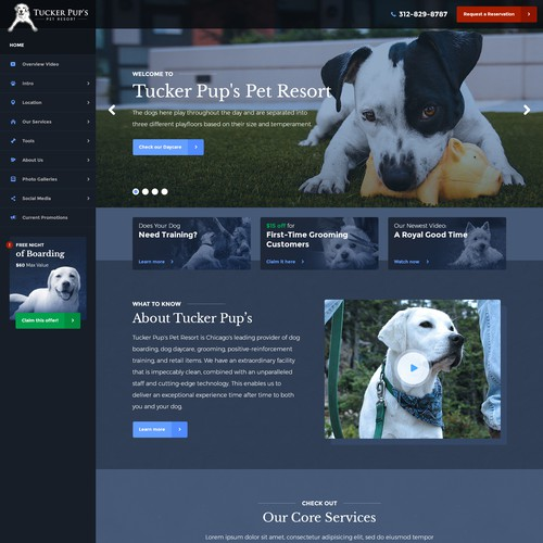 Website redesign for Tucker Pup's Pet Resort