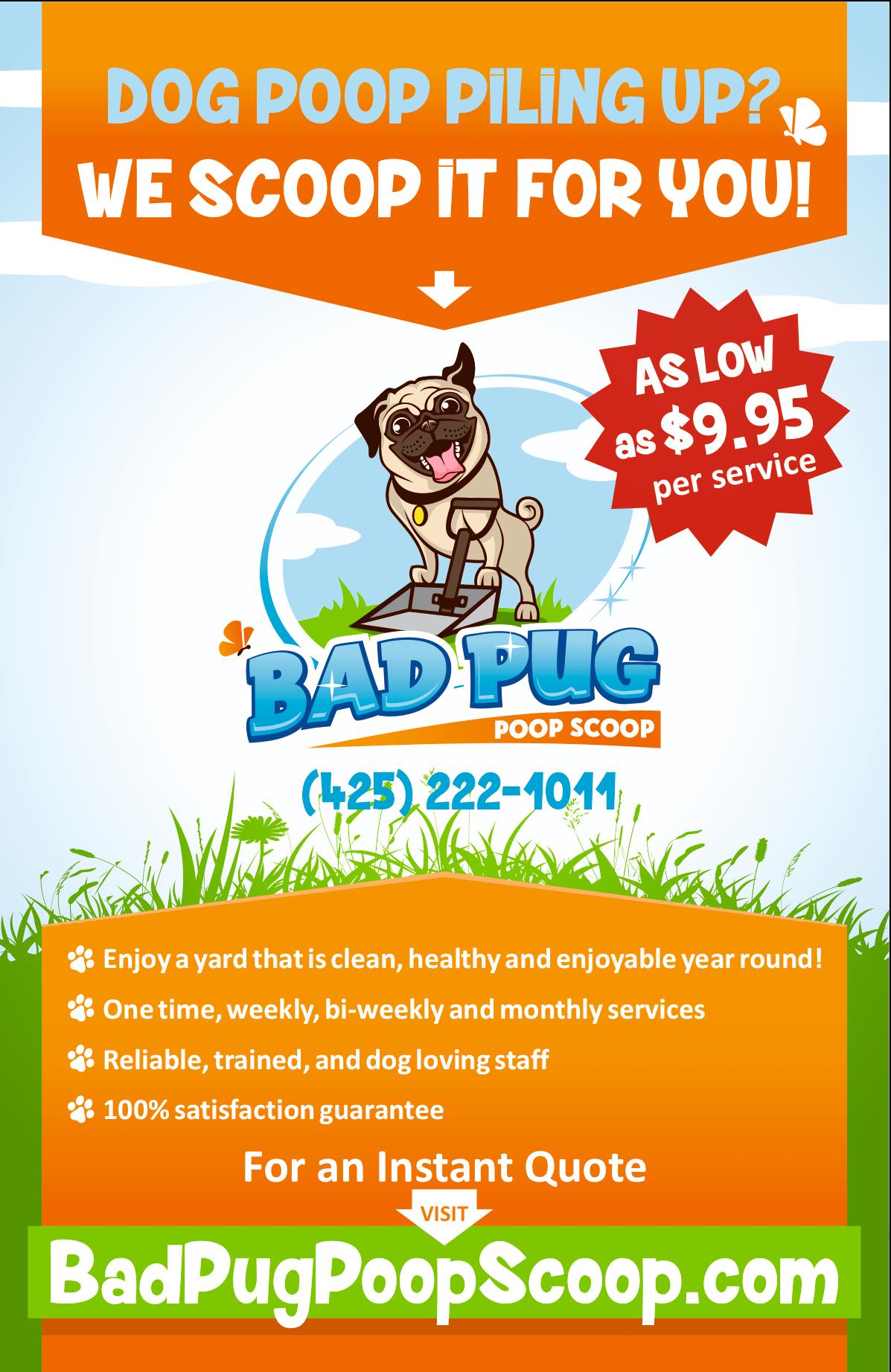 Revision to Bad Pug Poop Scoop flyer