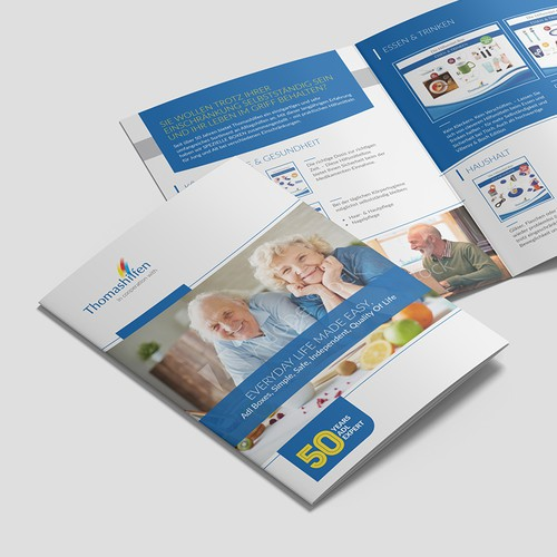 Modern and Emotional Brochure for Homecare Products