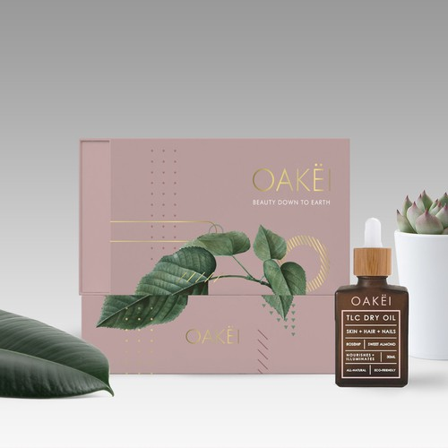 Design of a stunning, reusable gift box as the packaging for natural beauty oil