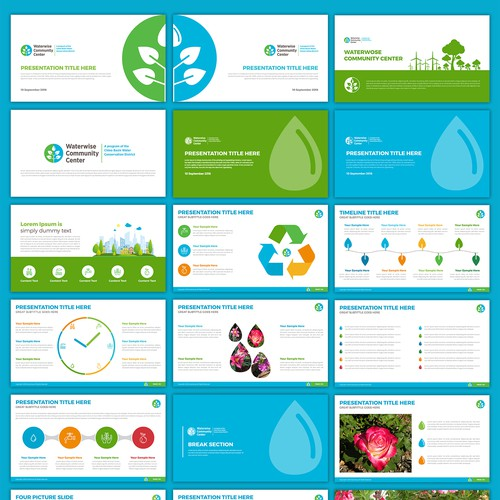 Design Branded Powerpoint Templates for Community Education Programming