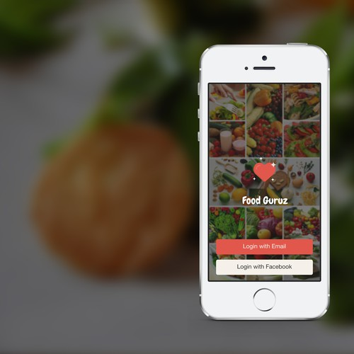 Create an app design for Foodguruz: The doctor's prescription for healthy eating out!