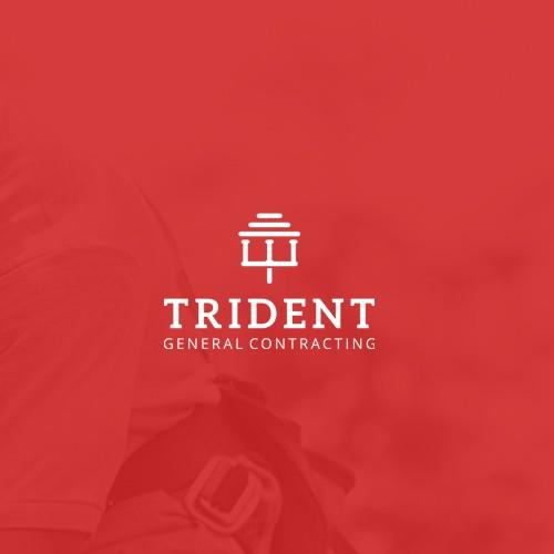 Trident+Greek Temple Logo