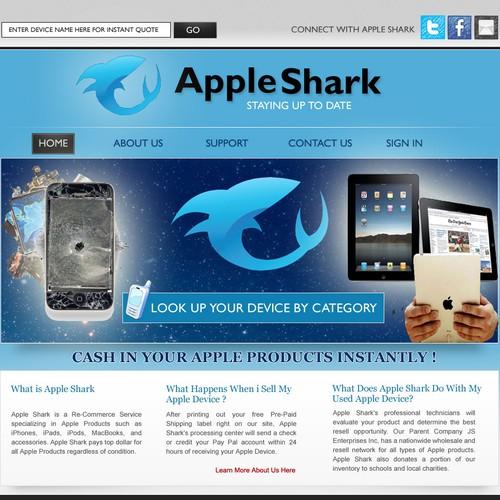 Create the next website design for AppleShark.com - GUARANTEED !