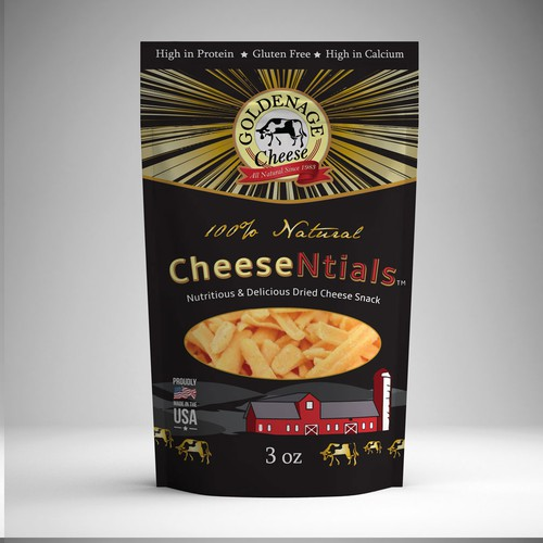 Create Elegant and Dazzling Product Label for Cheese Product