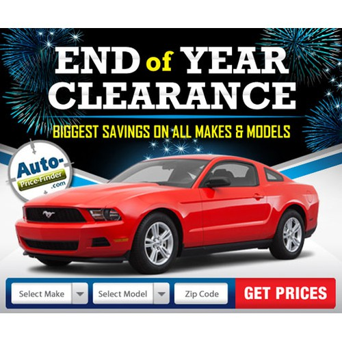 Create an End of Year Banner for an Automotive Company
