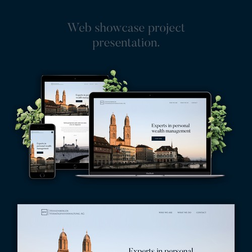Wealth Management homepage design