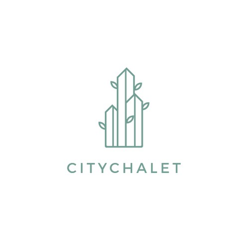 simple line art logo for city chalet.