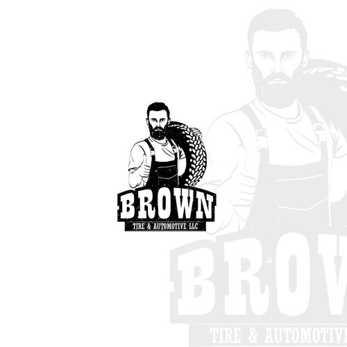 Brown Tire & Automotive Logo