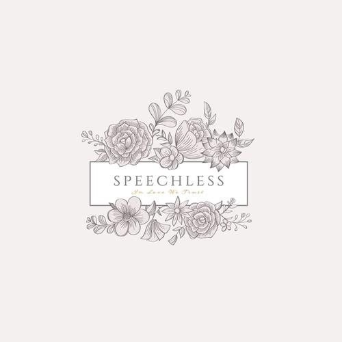 Classic logo for a flower shop brand