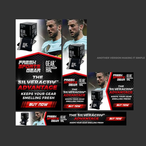 Banner Ad Design for a new Sports/Fitness Accessory