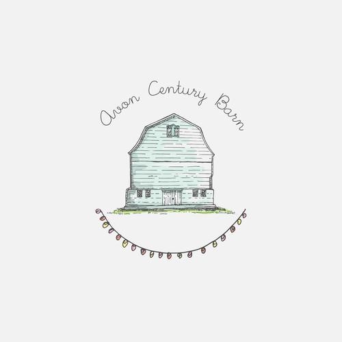 barn wedding venue logo