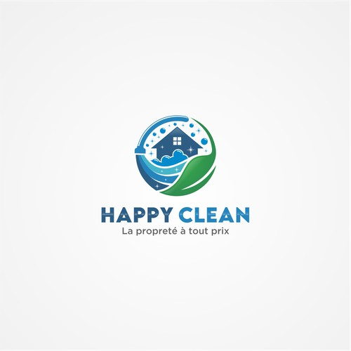 Create a logo for a cleaning services company