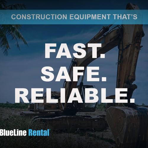 Flash banner - Blueline rental