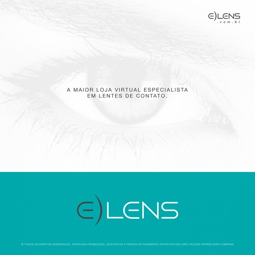 E-LENS - Logo for brazilian lens e-commerce