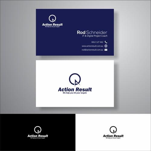 action result desaign business card