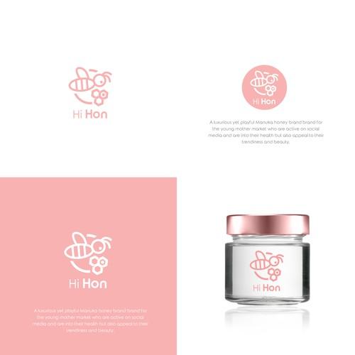 Feminine logo for Manuka product line