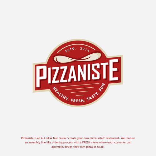 Retro Pizzaniste Logo