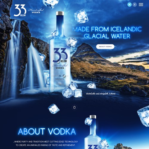 Webpage for the world's best new Vodka