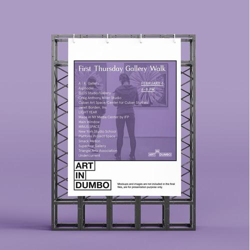 Modular logo for Art In DUMBO