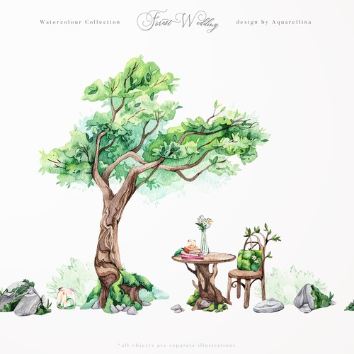 Forest Wedding Illustrations