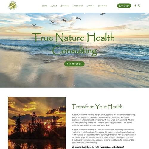 True Nature Health Consulting Design