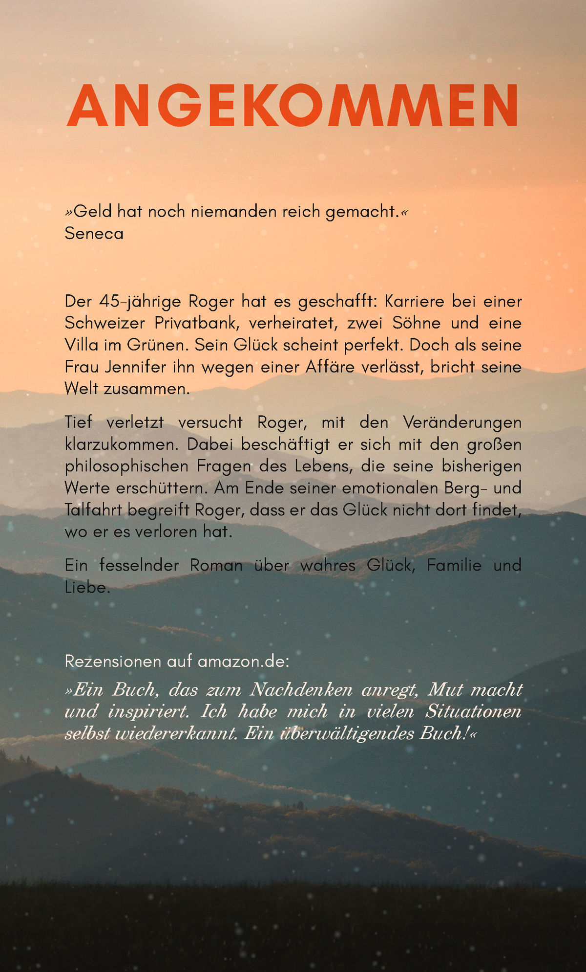 Design Cover Angekommen