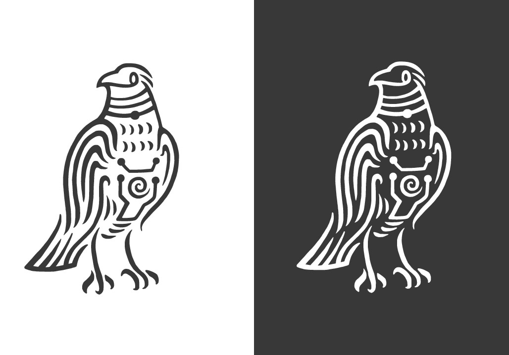 Tribal/Flat/Vector Raven Hoodie Design