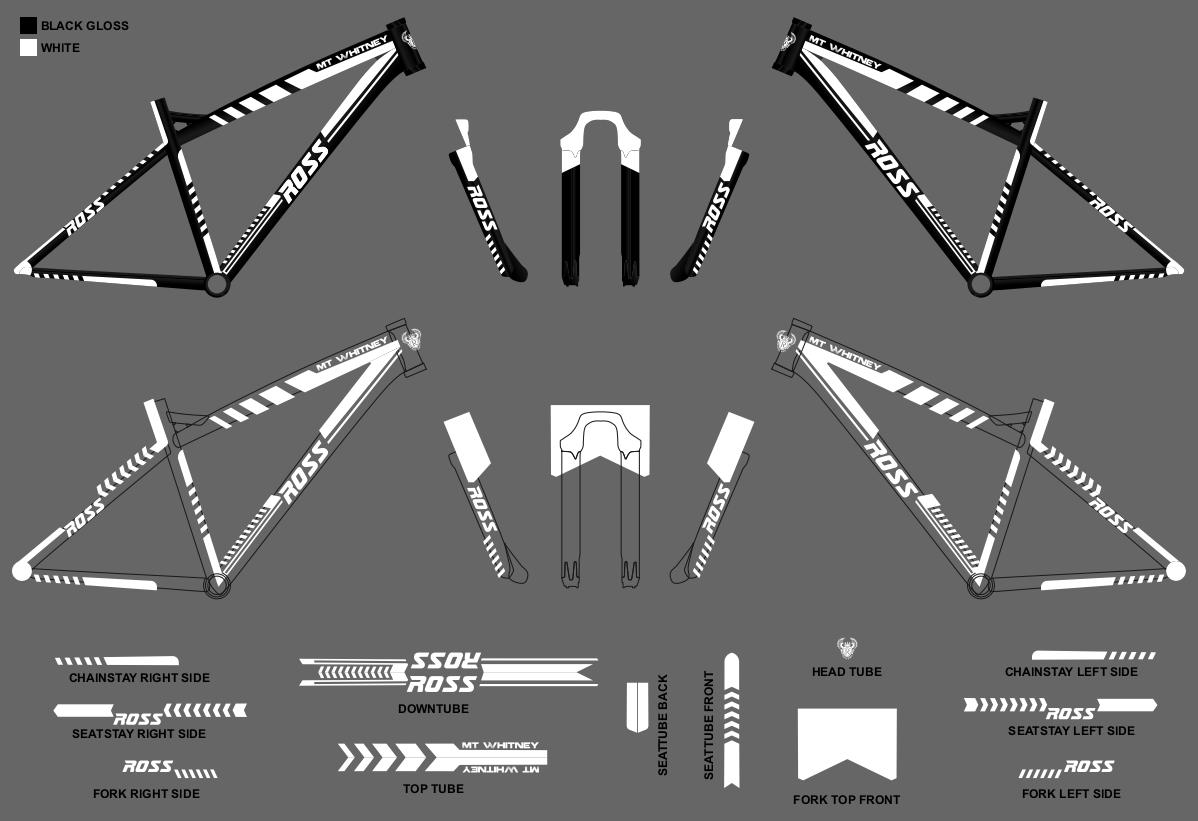 Mountain bike graphic design