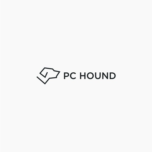 create logo simple logo for PC HOUND