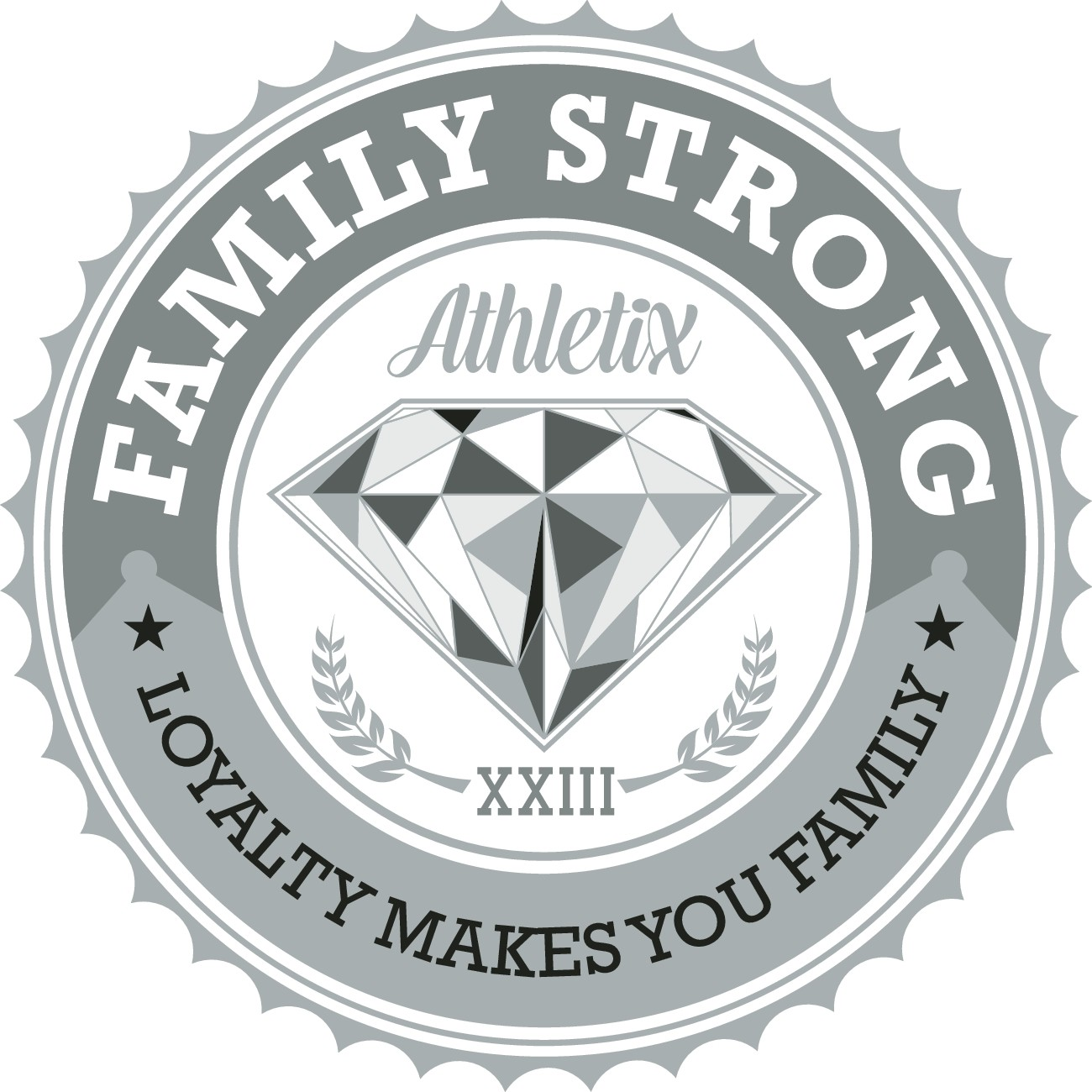 Create classy or graffiti artwork or urban illustration for Family Strong Apparel