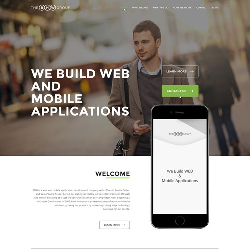 Website design for web and mobile app company