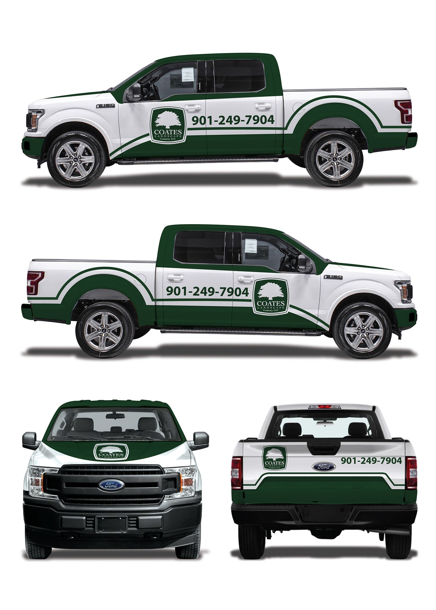 Design a graphic for the side of our landscape trucks