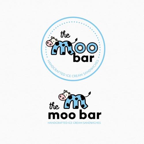 Fun logo for an ice cream sandwich shop