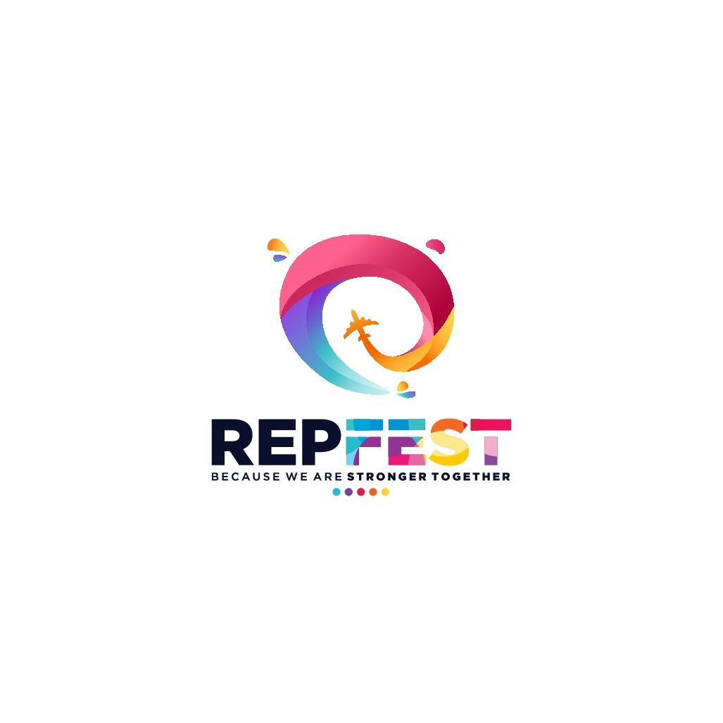 RepFest needs a logo bringing a Music Festival vibe to Travel!