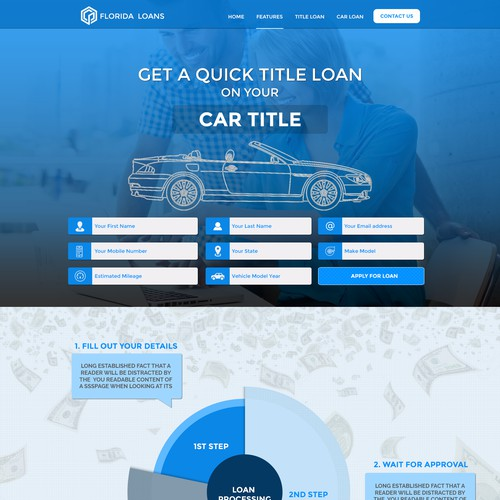 Florida Title Loans Landing Page