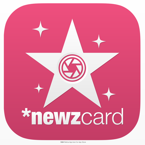 Create an engaging App Icon for an exciting new Entertainment News Photo App